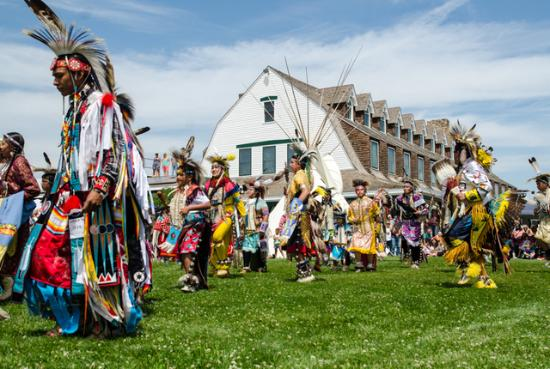 Annual Pow Wow held on the lawn of the Historic Sheridan Inn