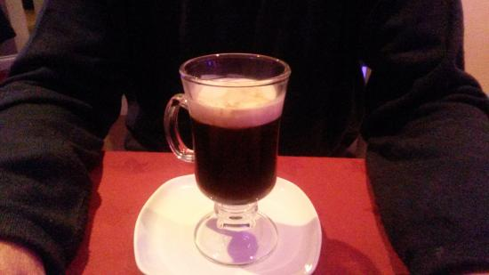 Attleborough, UK: Irish coffee