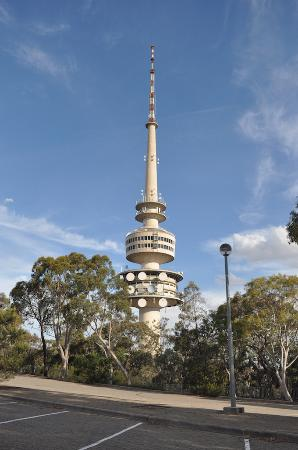 tower from car park picture of telstra tower canberra. Black Bedroom Furniture Sets. Home Design Ideas