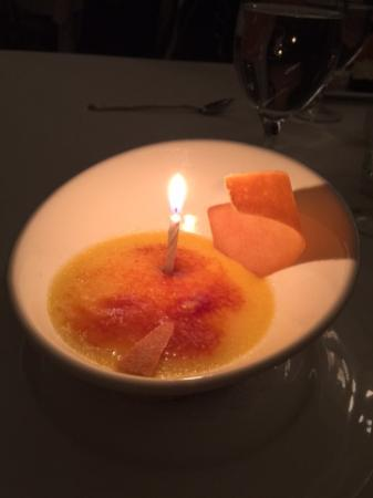 Glen Arbor, MI: Creme Brulee made with duck eggs