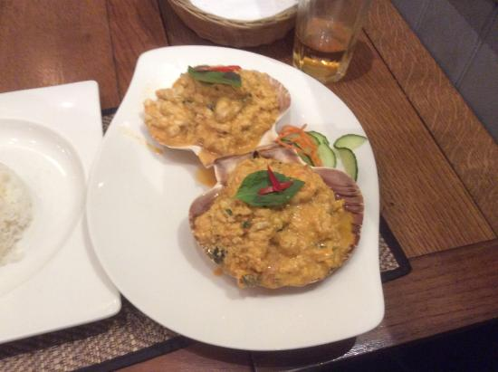 Seafood in shells picture of the authentic thai cuisine for Authentic thai cuisine
