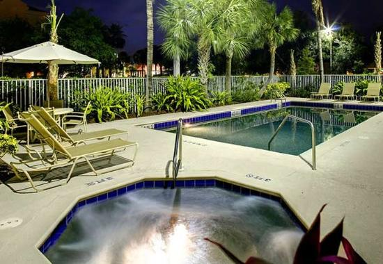 Outdoor pool spa picture of fairfield inn suites for A suite salon jupiter