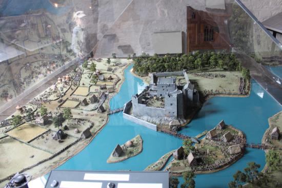 County Tipperary, Ireland: Interactive display of the castle and surrounds