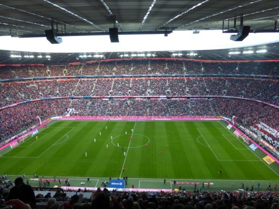 view from section 304 picture of allianz arena munich. Black Bedroom Furniture Sets. Home Design Ideas
