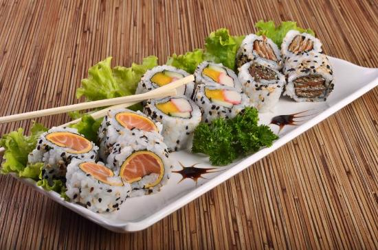 Sushi plater picture of inso pan asian cuisine for Adaro sushi pan asian cuisine
