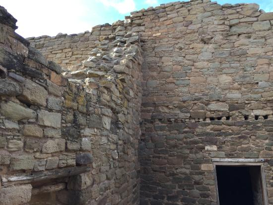 Aztec, NM: View inside one of the buildings.