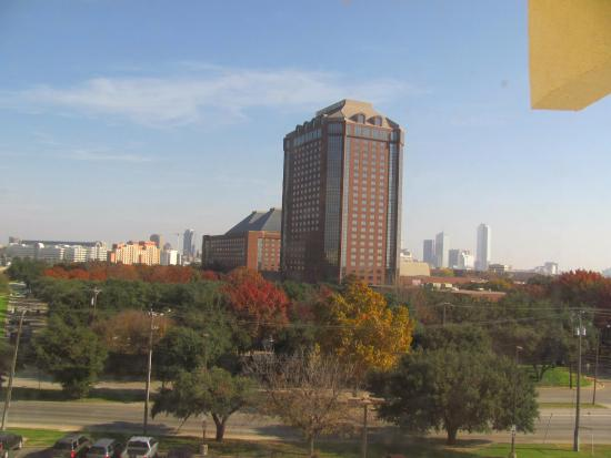 View Of The Hotel Anatole From My Room Picture Of Hilton Garden Inn Dallas Market Center