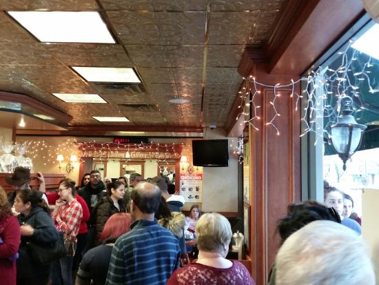Floral Park, NY: The day before Christmas eve.  You know the place is amazing if people are willing to wait on li