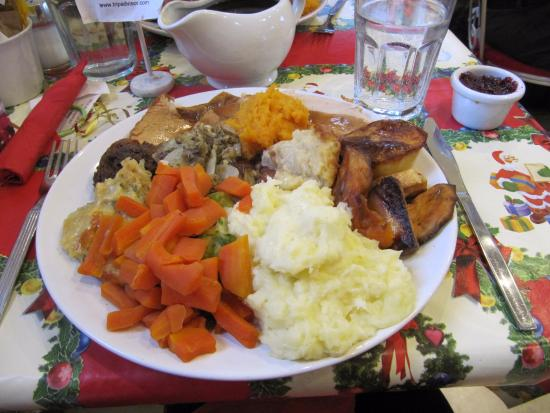 Ashover, UK: How's this for Christmas lunch?