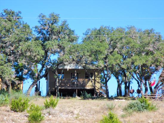 Leakey, TX: From the back of the property looking at the back porch.