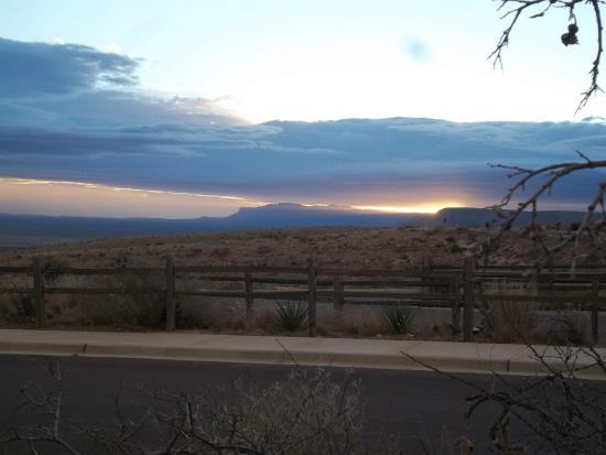 Whites City, NM: View from Carlsbad Caverns Visitor Center