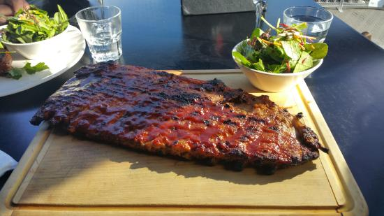 Ribs omg picture of flame bar and grill queenstown for Bar food queenstown