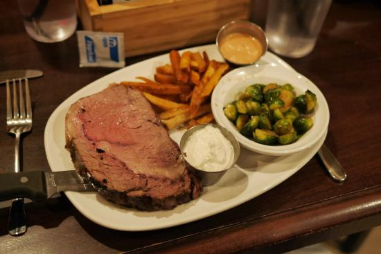 Grafton, WI: The excellent prime rib special.