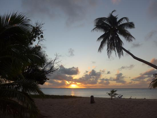 Uoleva Island, Tonga: view from our fale