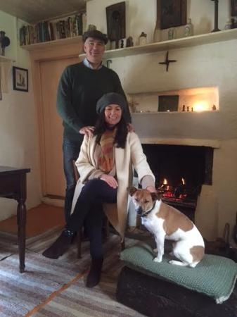 Ardara, Ireland: Getting warmed up in front of the fire!