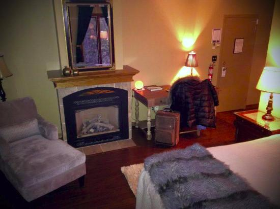 Bancroft, Canada: Deluxe Room w fireplace