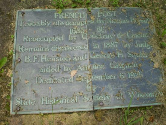 Trempealeau, WI: Plaque