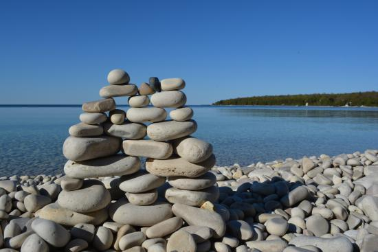 Washington Island, WI: Like a cross between sandcastles and Jenga!