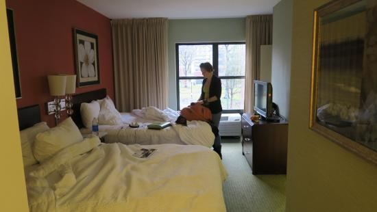 2 Queen Suite Picture Of Springhill Suites Memphis Downtown Memphis Tripadvisor