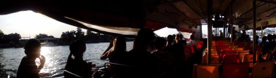 Take the boat in the evening. - Picture of Chao Phraya ...