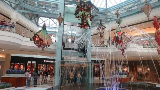 Decorative Art And Waterfalls Are Everywhere At This Mall