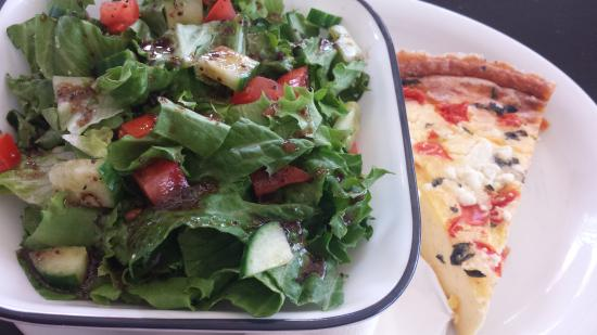 Saratoga, CA: Quiche and salad