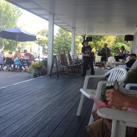 Interlaken, NY: enjoying the porch with live music
