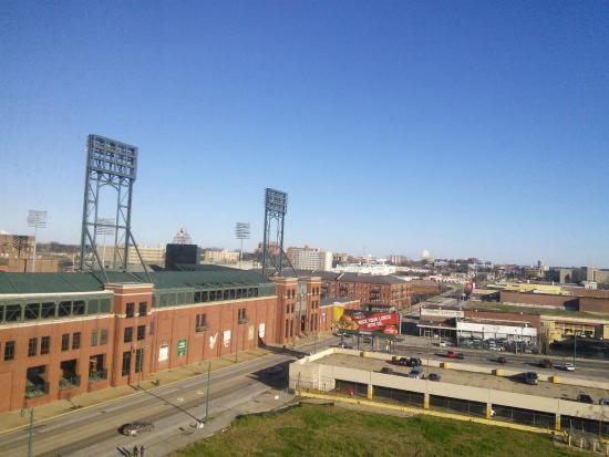 view of the ballpark picture of doubletree by hilton. Black Bedroom Furniture Sets. Home Design Ideas