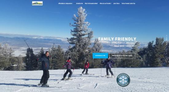 Squaw Valley, CA: Lake Tahoe's independent, affordable family instructor mountain guides. Safely building beginner