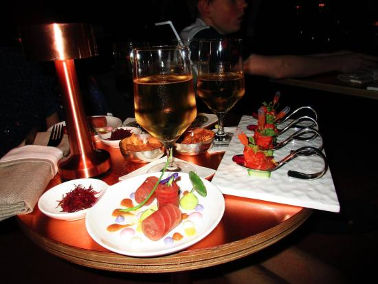 Great food picture of vertigo grill and moon bar for Food bar rainbow moon