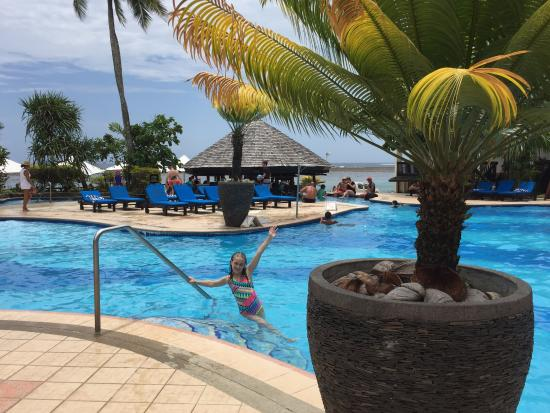 Family Pool Area And The Pool Bar In The Background Picture Of The Warwick Fiji Coral Coast
