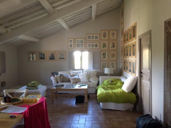 Vignanello, Italy: upstairs living room area with TV