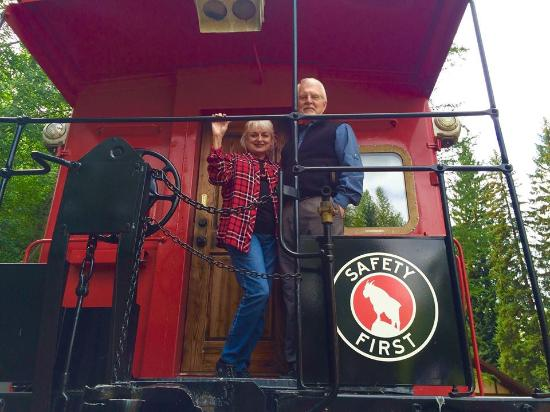 Essex, MT: September 2016 checking out a caboose