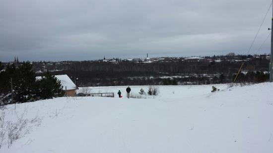 Calumet, MI: The sledding hill, looking both ways, and shots from The Applesauce Snowshoe trail, with a few a