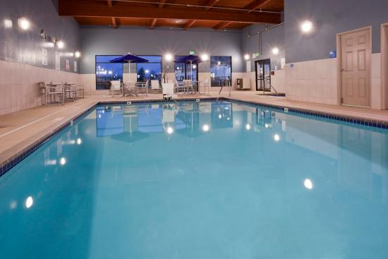 Large heated pool at the Holiday Inn Express Golden Valley
