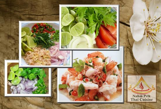 Yum talay is a thai spicy seafood dish that has an aroma for Aroma thai cuisine