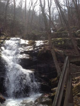 Wintergreen, VA: View of a portion of the falls.
