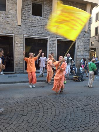 Province of Florence, Italy: Hare Rama dancers in Florence