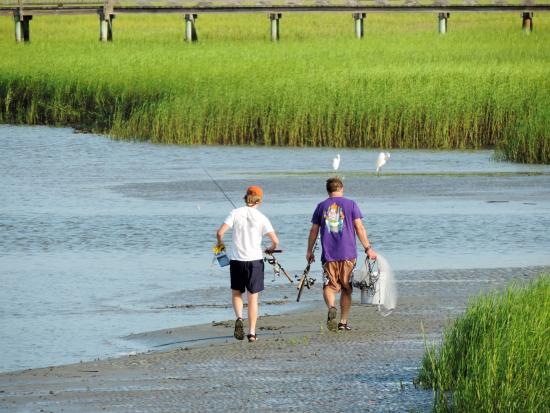 The waters around Fripp Island are a fisherman's paradise.