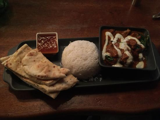 Castlemartyr, Ireland: Lamb curry dish