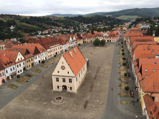 Bardejov, Slovakia: View from the main tower