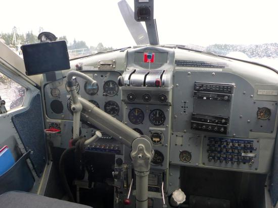 Sechelt, Canada: The interior of our float plane