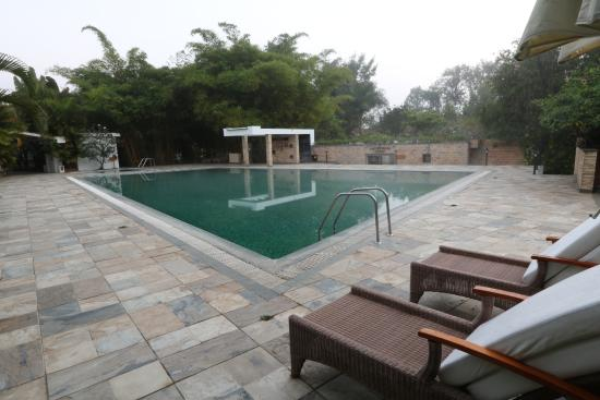 Pool side picture of amanvana spa resort coorg kushalnagar tripadvisor Hotels in coorg with swimming pool