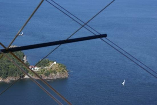 Owls Head Lighthouse seen from the air