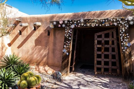 Ted DeGrazia, whose love for the American Southwest was clear in his work, designed and built th