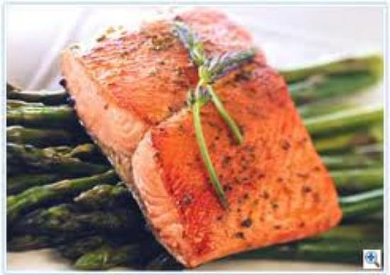 Essex, NY: Broiled Scottish salmon with a mustard dill sauce