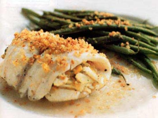 Essex, NY: Scrod stuffed with crabmeat
