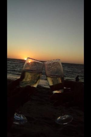 Dongara, Australia: Toasting the close of a beautiful day