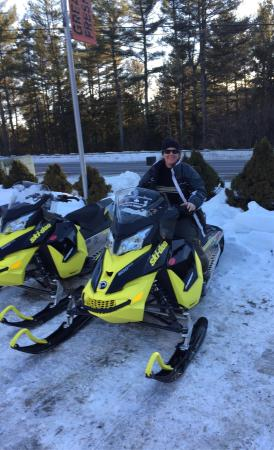 The Forks, ME: Snowmobiling.