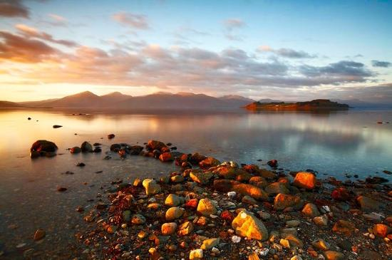 North Ballachulish, UK: highland view bed and breakfast sunset loch linnhe